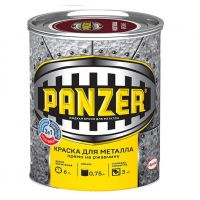 Краска для металла PANZER серебр.-серая молотковая 0.75л