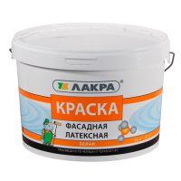 Краска латексная фасадная Белая 14 кг ЛАКРА