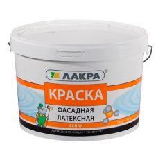 Краска латексная фасадная Белая 14 кг ЛАКРА купить Егорьевск
