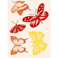 наклейка декор МЕТИЛАН  оранжевые бабочки купить Егорьевск