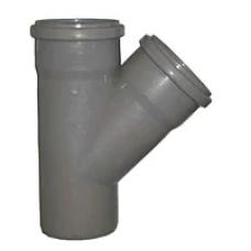 Тройник канализационный D50 мм 45° купить Егорьевск